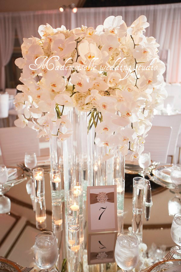Pin svadbene dekoracije stolova mademoiselle on pinterest for Table za stolove