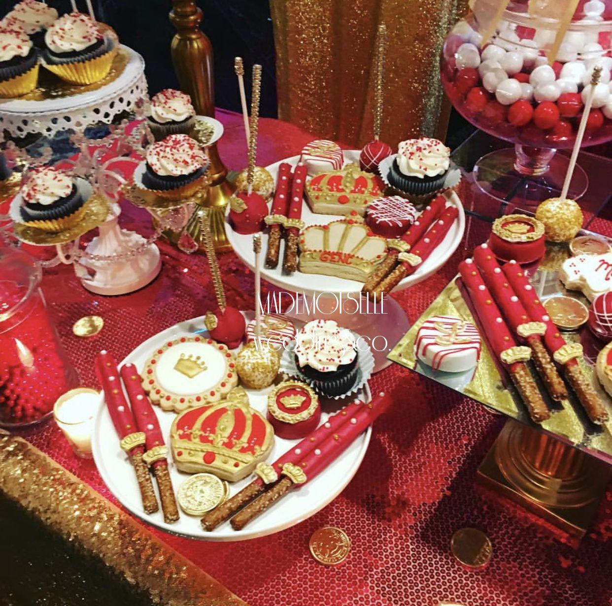 IMG_E4538-slatki sto-dekoracija rodjendana-dekoracija za svadbe-kolacici-crveno zlatna dekoracija slatkog stola