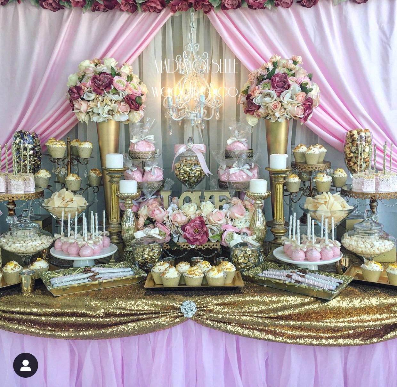 Slatki sto-dekoracija za slatki sto-dekoracija slatkog stola-kolaci-cupecakes-roze zlatna dekoracija slatkog stola-muffins-cakepops-dekoracija krstenja-radujevac-negotin